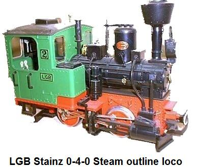 LGB Stainz 0-4-0 steam outline locomotive in G gauge