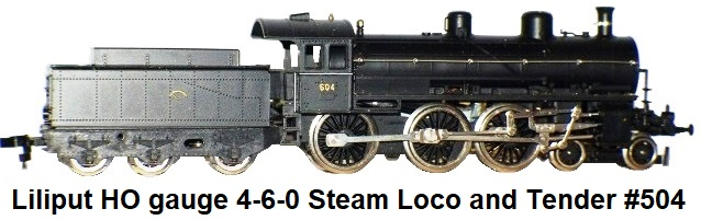 Liliput HO 4-6-0 Steam Loco and tender