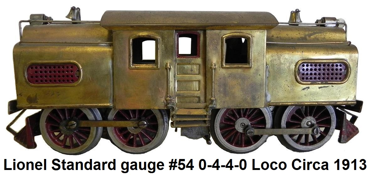 Lionel Standard gauge #54 Electric Outline 4-4 Loco made from 1913 to 1924