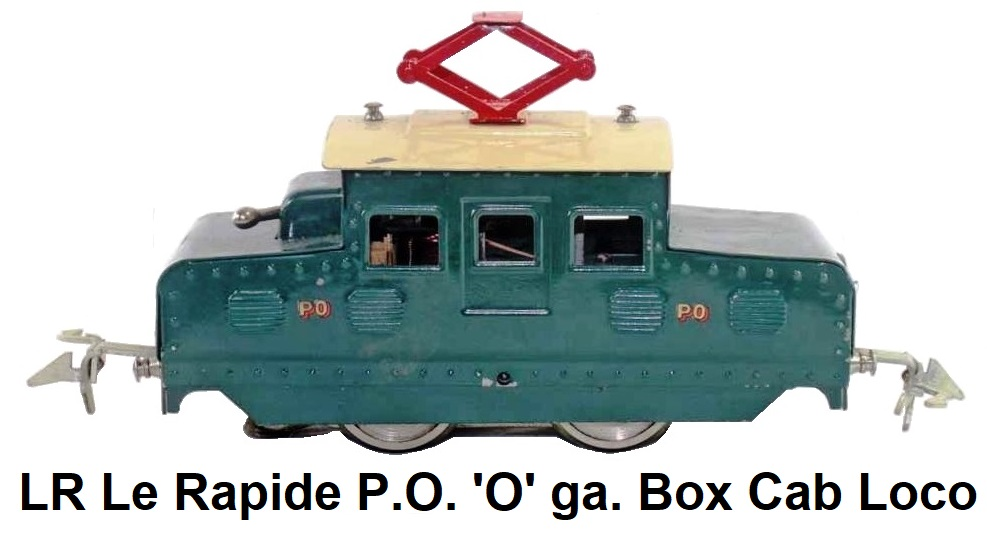 LR Le Rapide 'O' gauge P.O. Box Cab Locomotive