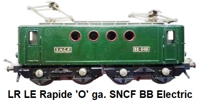 LR Le Rapide 'O' gauge SNCF BB Electric Locomotive BB0401