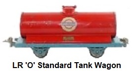 LR Le Rapide 'O' gauge Standard Oil Tank Wagon (red)