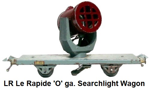 LR Le Rapide 'O' gauge Searchlight flat wagon