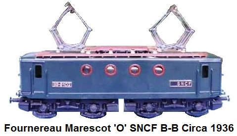 Fournereau Marescot 'O' gauge SNCF model locomotive BB8102, bronze casting, working pantographs and lights