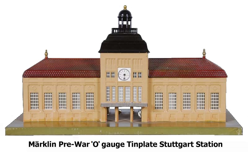 M�rklin Pre-war 'O' Gauge TinplateStuttgart Railway Station