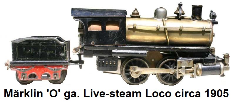 M�rklin 'O' gauge 0-4-0 live steam loco & tender circa 1905