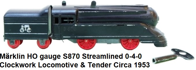 Märklin early tinplate 0-4-0 clockwork train in gauge 1