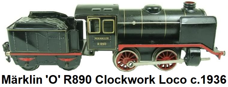 M�rklin 'O' gauge, R890, 0-4-0, Loco & Tender, #3410, Clockwork