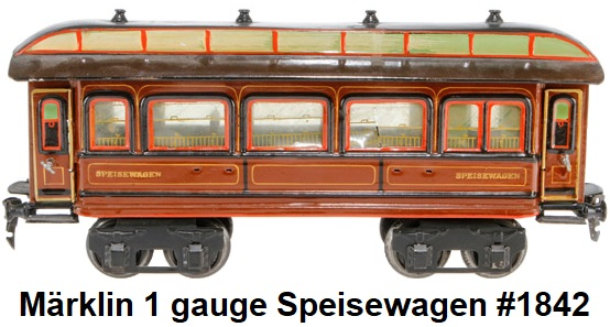 M�rklin Speiswagen in 1 gauge
