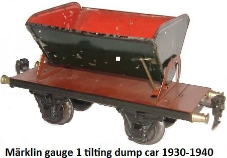 M�rklin 1 Gauge 'Tilting' Dump car 1930 - 1940's