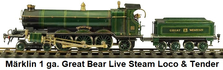 M�rklin Great Bear Steam loco & tender in gauge 1