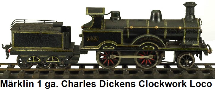 Märklin Charles Dickens clockwork loco & tender in gauge 1