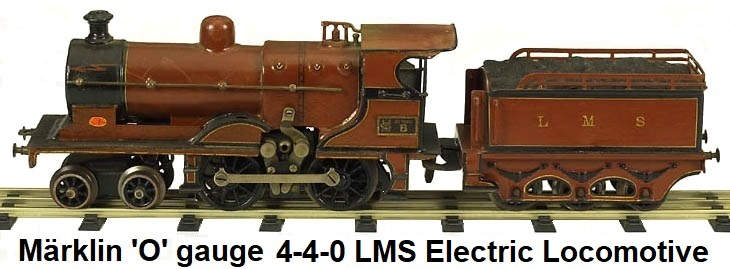 M�rklin 4-4-0 electric loco & tender in gauge 0
