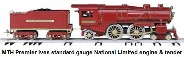 MTH Ives reproduction National Limited Steam Loco in Standard gauge