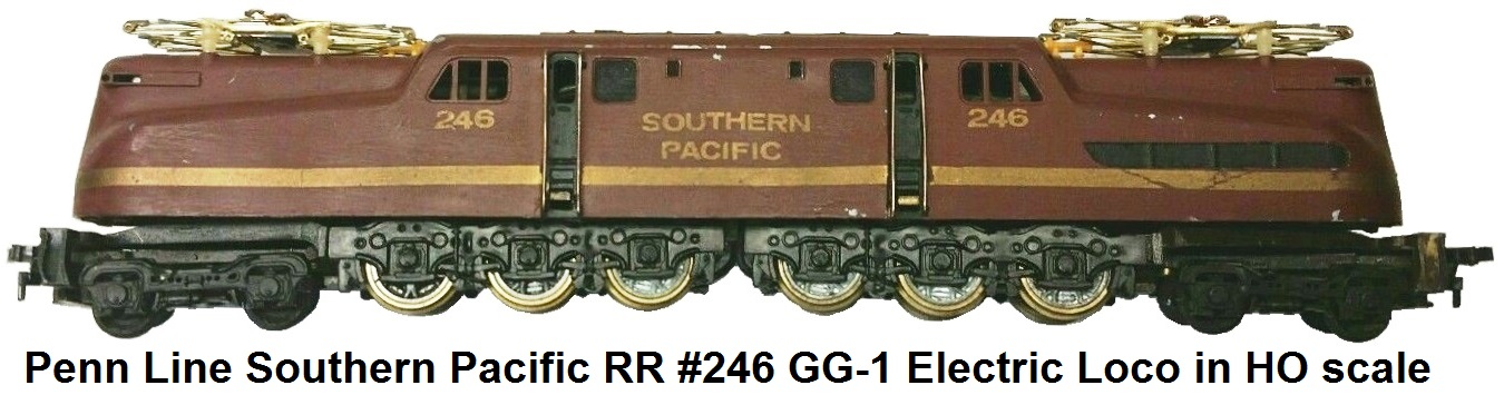 Penn Line HO scale Southern Pacific RR GG-1 Electric Loco