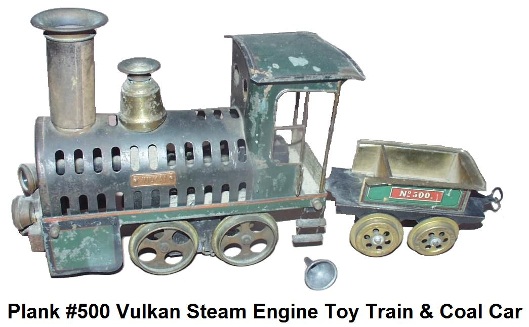 Plank #500 Vulkan steam driven locomotive and tender
