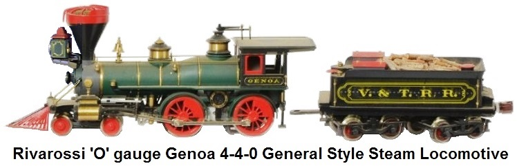 Rivarossi plastic 'O' gauge steam locomotive 4-4-0 Genoa General style loco