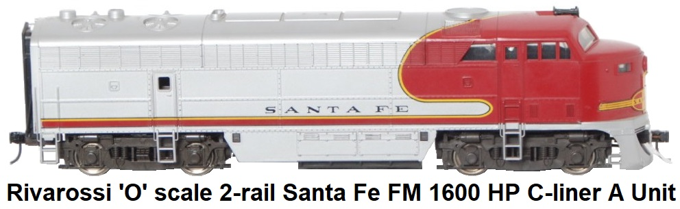 Rivarossi 'O' scale 2-rail #7102/B Santa Fe Railroad Fairbanks Morse Diesel Loco A unit