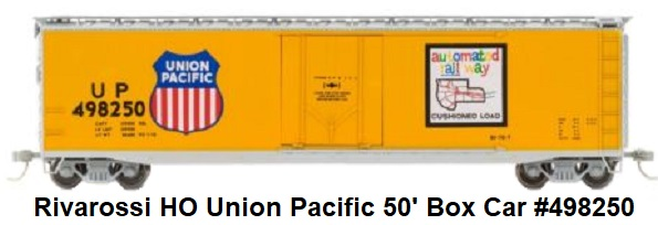 Rivarossi Union Pacific 50' Plug Door Box Car #498250 in HO Scale