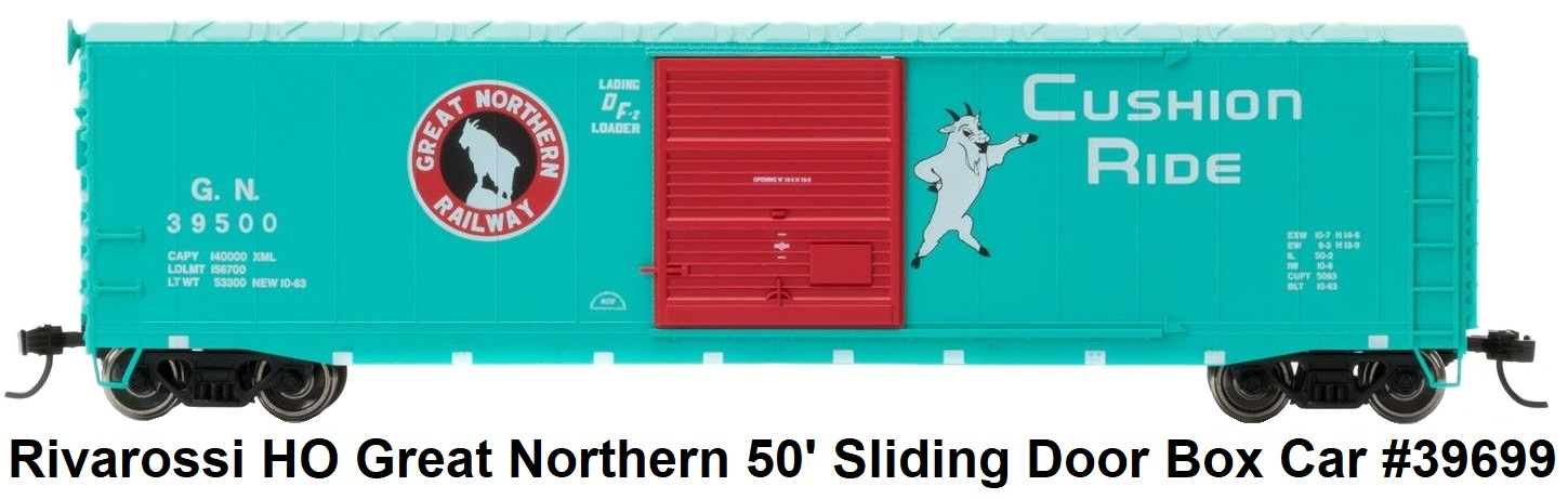 Rivarossi Great Northern Sliding Door Box Car #39699 in HO Scale