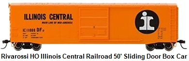 Rivarossi HO scale #11000 Illinois Central Railroad Sliding Door Box Car