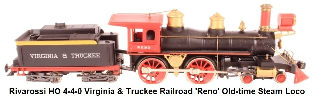 Rivarossi HO gauge 4-4-0 Virginia & Truckee Railroad 'Reno' Old Time Steam Locomotive
