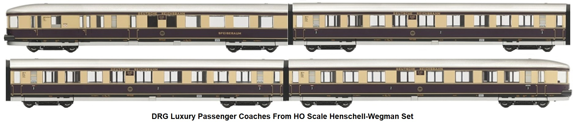 Rivarossi HO gauge Henschell-Wegmann 4-6-4T Streamlined Passenger train set