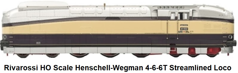 Rivarossi HO gauge 4-6-6T Henschell-Wegman Streamlined Locomotive in DRG livery