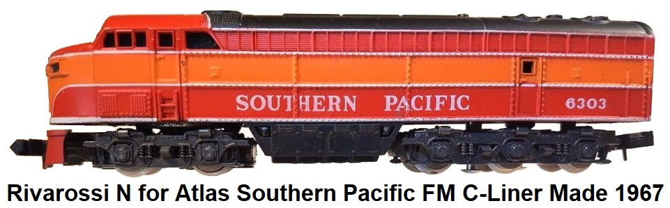Rivarossi N gauge for Atlas Southern Pacific C-liner FM A unit circa 1967