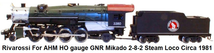 Rivarossi HO for AHM Mikado 2-8-2 Steam Engine circa 1981