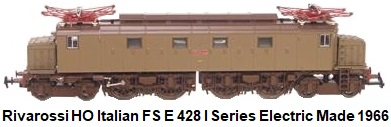 Rivarossi HO gauge Italian FS E 428 I Series Electric Loco made 1966