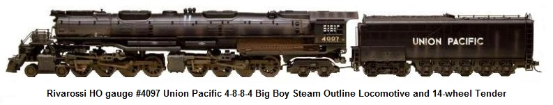 Rivarossi HO gauge Union Pacific 4-8-8-4 Big Boy Steam Locomotive and 14-wheel tender