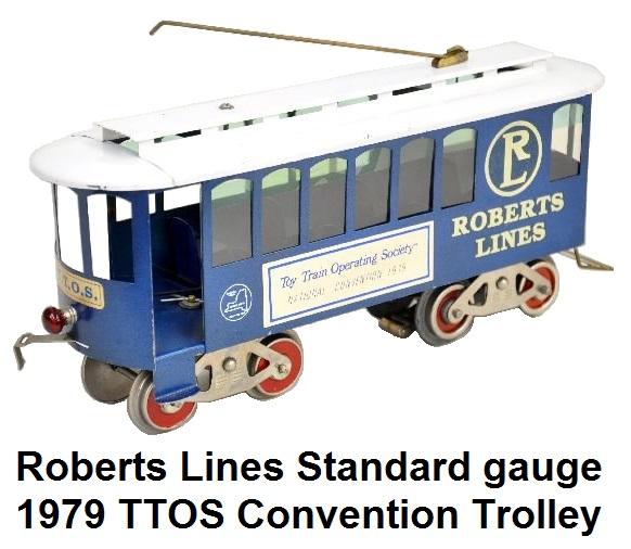Roberts' Lines Standard gauge 1979 TTOS Convention Trolley