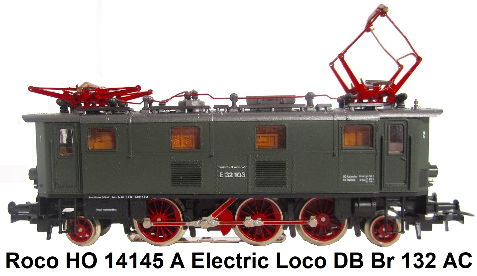 Roco HO gauge DC powered #33266 0-8-0 Steam Locomotive