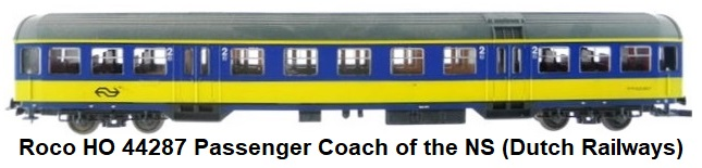 Roco HO gauge 44287 passenger coach of the NS