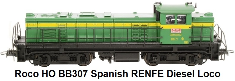 Roco HO 43469-LN BB307 Diesel Locomotive of the Spanish RENFE