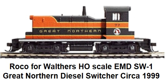 Roco made for Walthers HO scale EMD SW-1 diesel switcher circa 1999