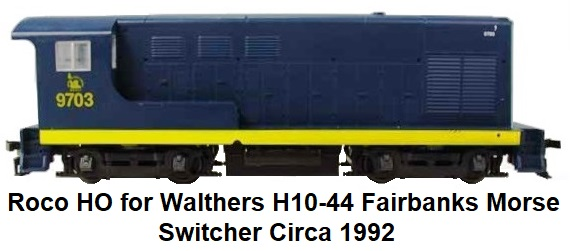 Roco made for Walthers Fairbanks Morse Switcher H10-44 HO scale circa 1992