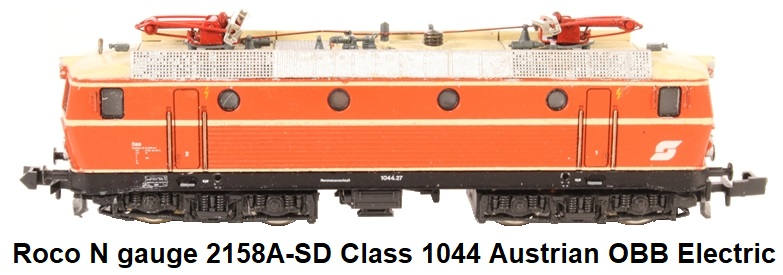 Roco N gauge 2158A-SD Class 1044 Electric Locomotive of the Austrian OBB