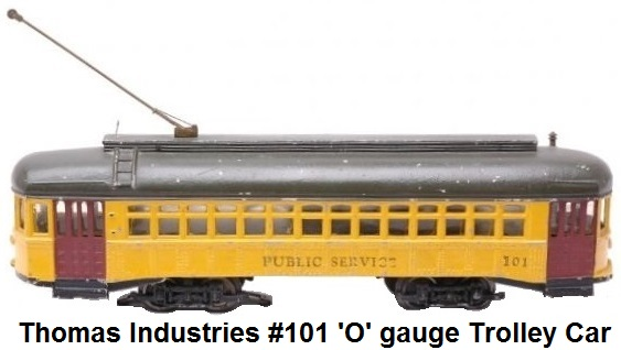 Thomas Industries 'O' gauge Pioneer coach