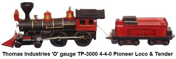 Thomas Industries 'O' gauge 4-4-0 Shawnee Express loco & tender from the Pioneer set
