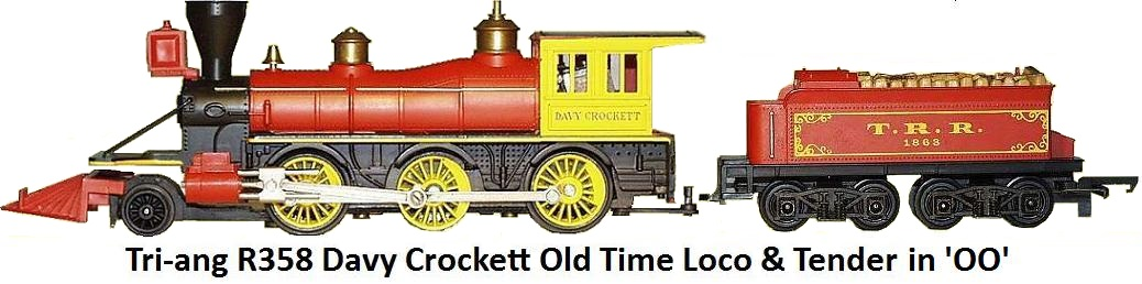 Tri-ang R358 Davy Crockett Old Time loco