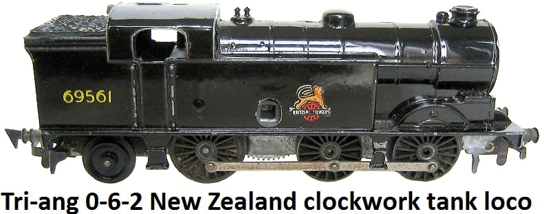 Tri-ang New Zealand Clockwork 0-6-2 Tank