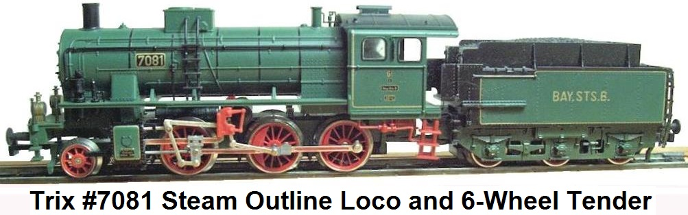 Trix #7081 steam loco and tender