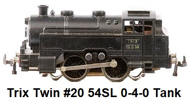 Trix Twin #20 54SL Continental Tank Outline 0-4-0
