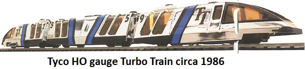 Tyco HO gauge Turbo Train circa 1986
