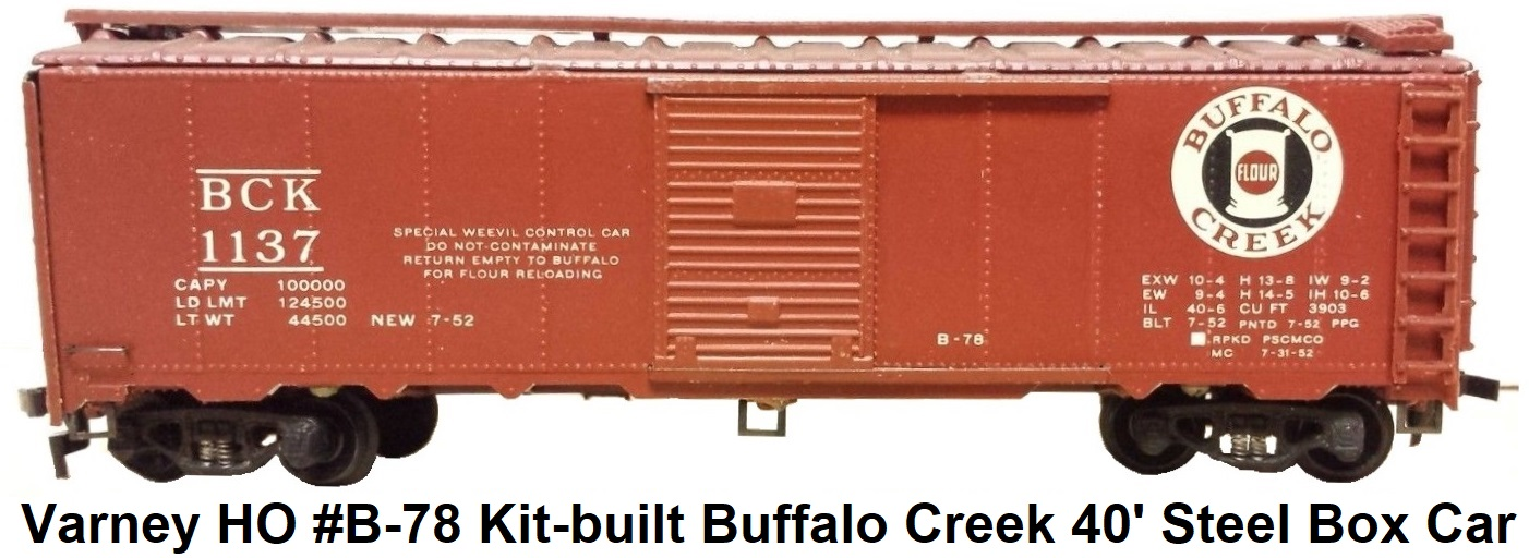 Varney Buffalo Creek Railroad 40' single door box car