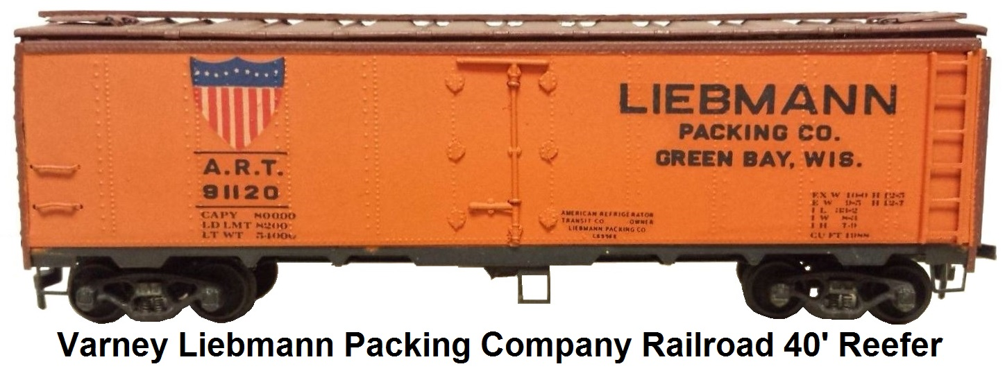 Varney Liebmann Packing Company Railroad 40' reefer