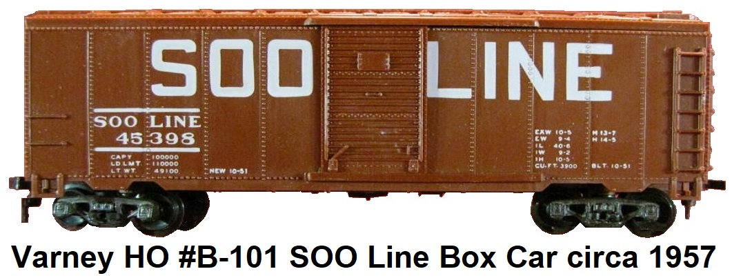 Varney HO SOO LINE #45398 40' single door box car