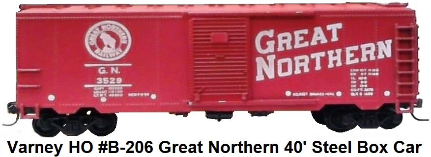 Varney HO #3529 Great Northern B-206 steel type boxcar